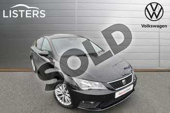 SEAT Leon 1.2 TSI SE Dynamic Technology 5dr in Midnight Black at Listers Volkswagen Worcester