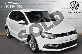 Volkswagen Polo 1.2 TSI Match 5dr DSG in Pure white at Listers Volkswagen Evesham