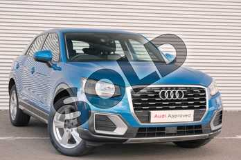 Audi Q2 1.0 TFSI Sport 5dr in Ara Blue Crystal Effect at Coventry Audi