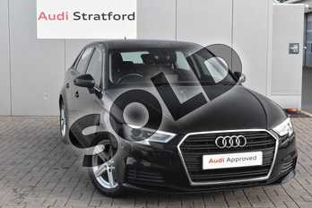 Audi A3 1.4 TFSI SE 5dr S Tronic in Brilliant Black at Stratford Audi