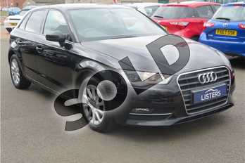 Audi A3 1.6 TDI SE 5dr in Solid - Brilliant black at Listers Toyota Grantham