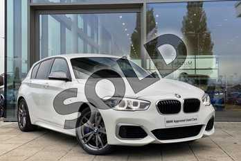 BMW 1 Series M140i 5dr (Nav) Step Auto in Alpine White at Listers King's Lynn (BMW)