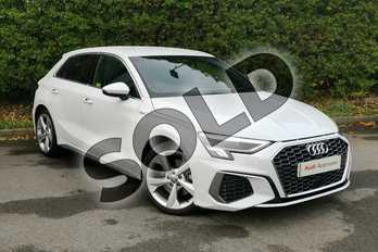Audi A3 35 TDI S line 5dr S Tronic in Glacier White Metallic at Worcester Audi