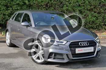 Audi A3 1.5 TFSI S Line 5dr S Tronic in Daytona Grey Pearlescent at Worcester Audi