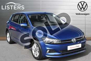 Volkswagen Polo 1.0 TSI 95 SE 5dr in Reef blue at Listers Volkswagen Evesham