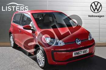 Volkswagen Up 1.0 Move Up 5dr in Tornado Red at Listers Volkswagen Evesham