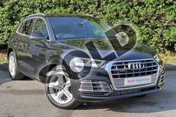 Audi Q5 50 TFSI e Quattro S Line 5dr S Tronic in Myth Black Metallic at Worcester Audi