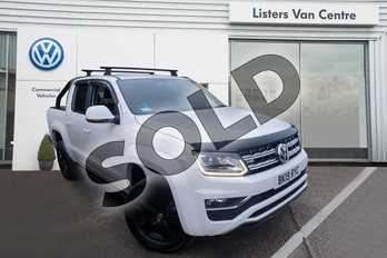 Volkswagen Amarok D/Cab Pick Up Highline 3.0 V6 TDI 204 BMT 4M Auto in White at Listers Volkswagen Van Centre Coventry