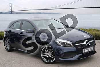 Mercedes-Benz A Class A180d AMG Line Premium 5dr Auto in Cavansite Blue Metallic at Mercedes-Benz of Hull