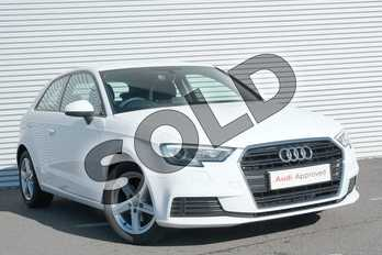 Audi A3 1.5 TFSI SE 3dr in Ibis White at Coventry Audi