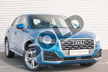 Audi Q2 1.4 TFSI S Line 5dr in Ara Blue Crystal Effect at Coventry Audi