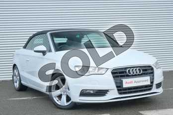 Audi A3 2.0 TDI Sport 2dr in Glacier White, metallic at Coventry Audi