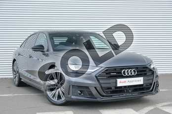 Audi A8 50 TDI Quattro Black Edition 4dr Tiptronic in Daytona Grey Pearlescent at Coventry Audi