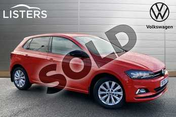 Volkswagen Polo 1.0 TSI 95 Match 5dr in Flash Red at Listers Volkswagen Stratford-upon-Avon