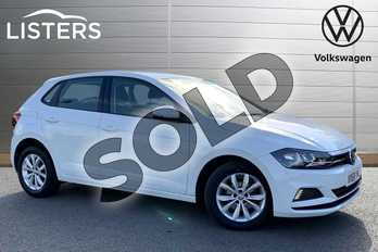 Volkswagen Polo 1.0 TSI 95 SE 5dr in Candy White at Listers Volkswagen Stratford-upon-Avon