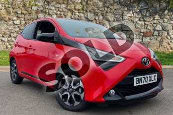 Toyota AYGO 1.0 VVT-i X-Trend TSS 5dr x-shift in Red Pop at Listers Toyota Coventry
