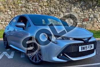 Toyota Corolla 1.8 VVT-i Hybrid Design 5dr CVT in Silver at Listers Toyota Coventry