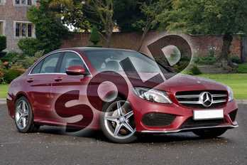 Mercedes-Benz C Class C220d AMG Line Premium 4dr 9G-Tronic in designo Hyacinth Red Metallic at Mercedes-Benz of Lincoln