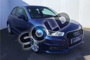 Audi A1 1.6 TDI S Line 3dr in Metallic - Scuba blue at Listers U Solihull