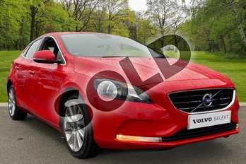 Volvo V40 D2 (120) SE Nav 5dr Geartronic in Passion Red at Listers Volvo Worcester