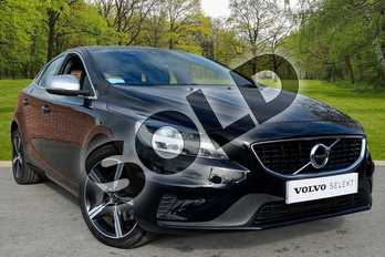 Volvo V40 T2 (122) R DESIGN Nav Plus 5dr in Onyx Black at Listers Volvo Worcester