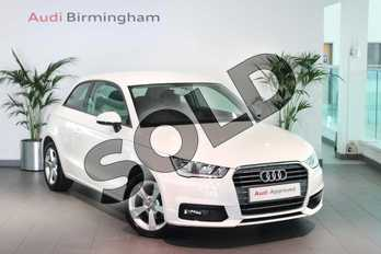 Audi A1 1.0 TFSI Sport 3dr in Shell White at Birmingham Audi