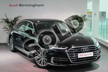 Audi A8 55 TFSI Quattro 4dr Tiptronic in Myth Black Metallic at Birmingham Audi