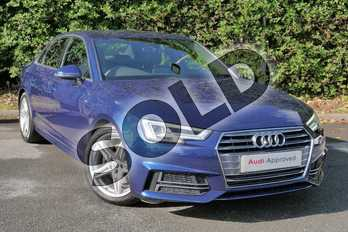 Audi A4 2.0T FSI S Line 4dr S Tronic in Scuba Blue Metallic at Worcester Audi