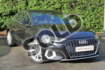 Audi A3 30 TFSI Sport 4dr in Myth Black Metallic at Worcester Audi