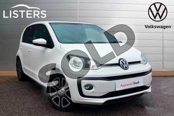 Volkswagen Up 1.0 BlueMotion Tech High Up 5dr in Pure white at Listers Volkswagen Loughborough
