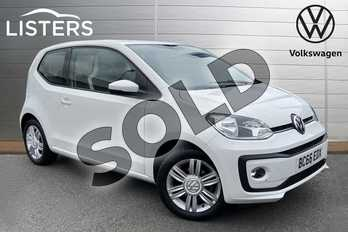 Volkswagen Up 1.0 High Up 3dr in Candy White at Listers Volkswagen Stratford-upon-Avon