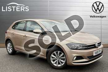 Volkswagen Polo 1.0 TSI 95 SE 5dr in Champagne Silver at Listers Volkswagen Stratford-upon-Avon