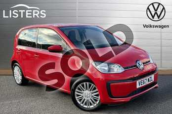 Volkswagen Up 1.0 Move Up 5dr in Tornado Red at Listers Volkswagen Stratford-upon-Avon