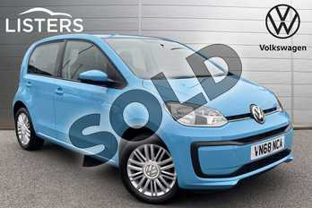 Volkswagen Up 1.0 Move Up 5dr in Teal Blue at Listers Volkswagen Stratford-upon-Avon