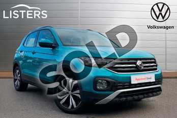 Volkswagen T-Cross 1.0 TSI 115 SE 5dr in Makena Turquoise at Listers Volkswagen Coventry