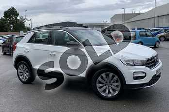 Volkswagen T-Roc 1.0 TSI SE 5dr in Pure white at Listers Volkswagen Stratford-upon-Avon