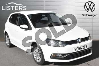 Volkswagen Polo 1.2 TSI Match 5dr in Pure white at Listers Volkswagen Evesham