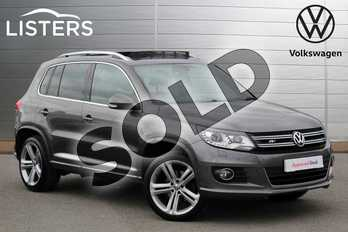 Volkswagen Tiguan 2.0 TDI BlueMotion Tech R Line 177 5dr DSG in Nimbus Grey Metallic at Listers Volkswagen Nuneaton