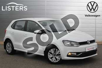 Volkswagen Polo 1.0 SE 5dr in Pure White at Listers Volkswagen Nuneaton