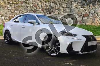 Lexus IS 300h F-Sport 4dr CVT Auto (Navigation) in F Sport White at Lexus Coventry