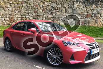 Lexus IS 300h 4dr CVT Auto in Fuji Red at Lexus Coventry