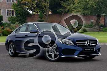 Mercedes-Benz C Class C220d AMG Line Premium 4dr 9G-Tronic in brilliant blue metallic at Mercedes-Benz of Lincoln