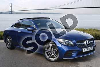 Mercedes-Benz C Class C220d 4Matic AMG Line Premium Plus 2dr 9G-Tronic in brilliant blue metallic at Mercedes-Benz of Hull