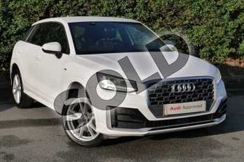 Audi Q2 1.0 TFSI S Line 5dr in Ibis White at Worcester Audi