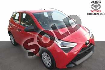 Toyota AYGO 1.0 VVT-i X 5dr in Red Pop at Listers Toyota Cheltenham