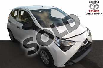 Toyota AYGO 1.0 VVT-i X 5dr in White Flash at Listers Toyota Cheltenham
