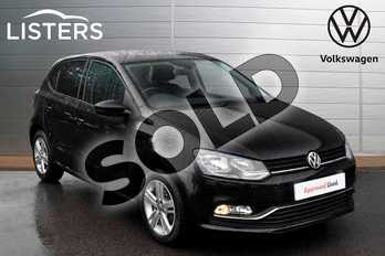 Volkswagen Polo 1.2 TSI Match 5dr DSG in Deep black at Listers Volkswagen Evesham