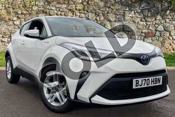 Toyota C-HR 1.8 Hybrid Icon 5dr CVT in Pure White at Listers Toyota Coventry