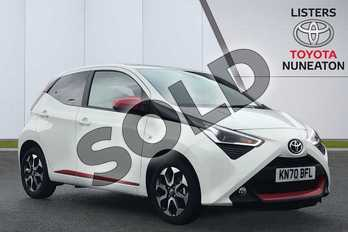 Toyota AYGO 1.0 VVT-i X-Trend TSS 5dr x-shift in White at Listers Toyota Nuneaton