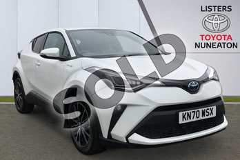 Toyota C-HR 1.8 Hybrid Excel 5dr CVT in White at Listers Toyota Nuneaton